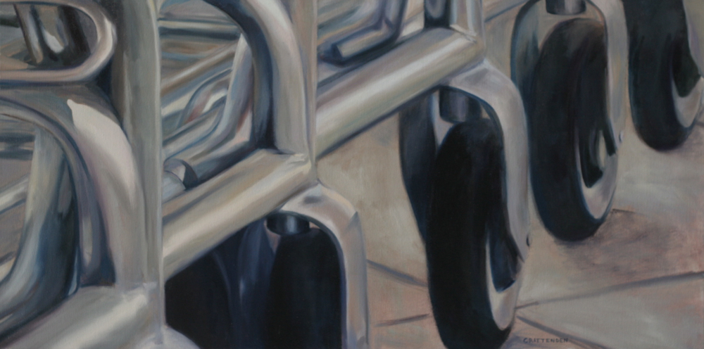 "Shopping Carts - 18""x36"" - Oil on canvas - Not for sale"
