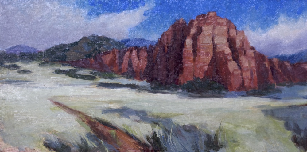 """Utah Midday- 6""""x12"""" - oil on panel - Private Collection"""