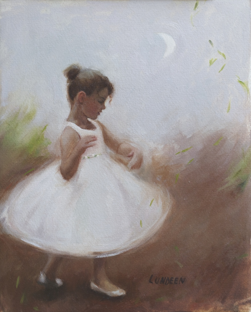 "Twirling - 8"" x 10"" - Oil on paper - SOLD"