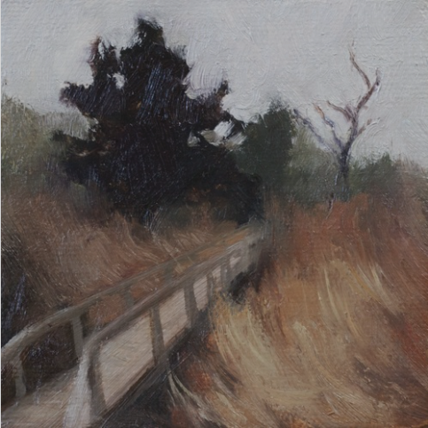"Missouri in Late Fall - 3""x3"" - Oil on canvas"