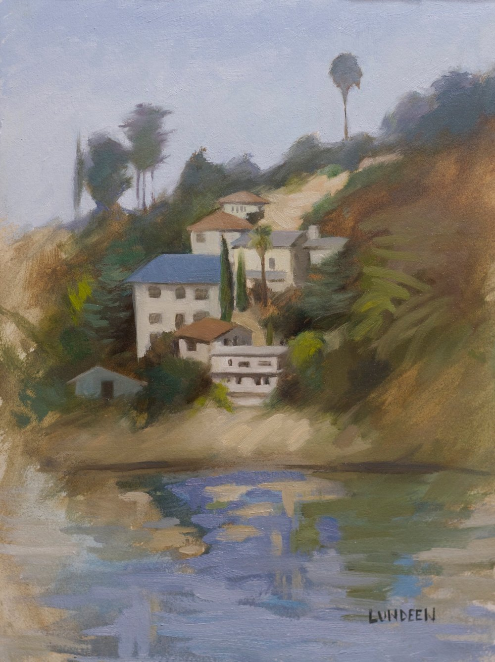 "Silverlake - 9""x12"" - oil on paper - SOLD"