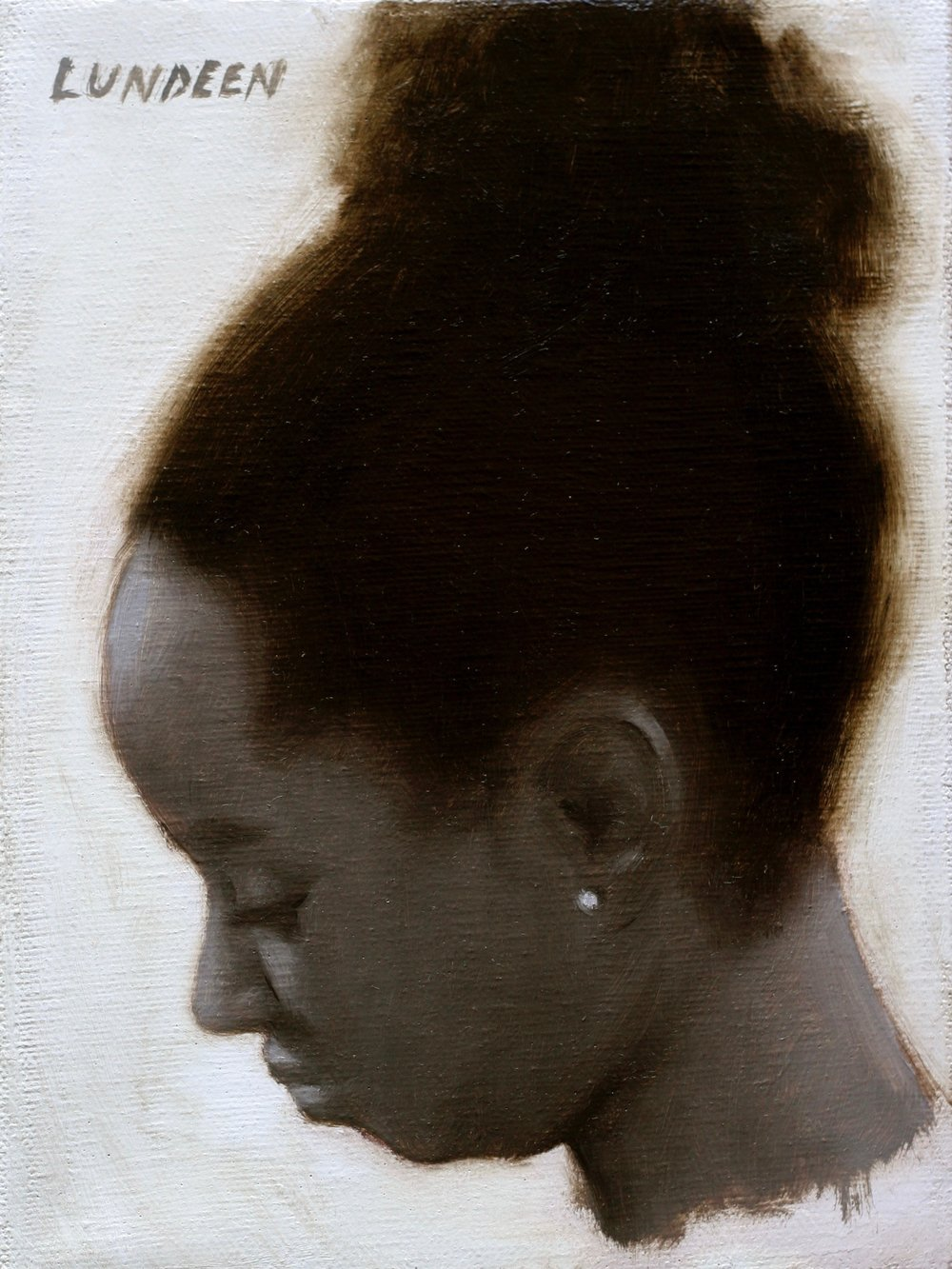"Portrait in Sepia -  6""x8"" - oil on canvas -  SOLD"