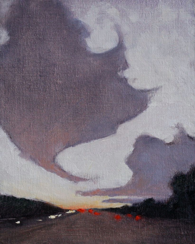 "Highway - 8""x10"" - oil on linen panel"