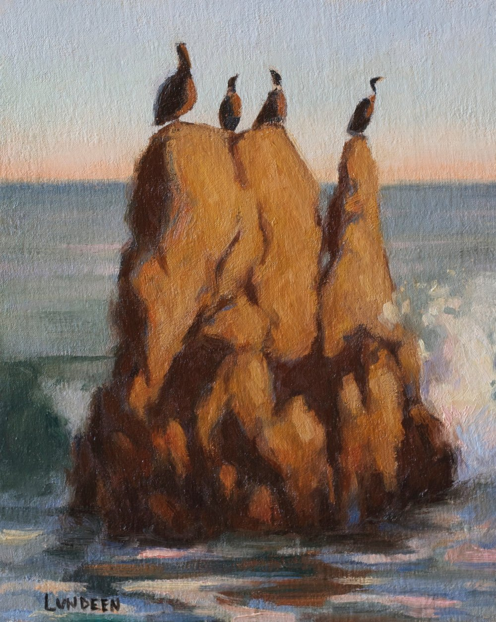 "Malibu Cormorants - 8""x10"" - oil on linen panel - SOLD"