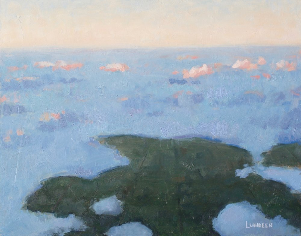 "Above the Clouds - 11""x14"" - oil on panel -  SOLD"