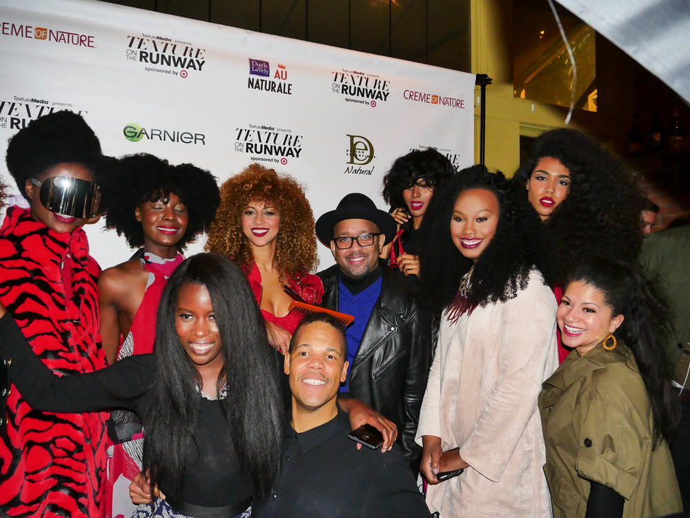 The Creme of Nature Team and models during Texture on the Runway February 13th 2015