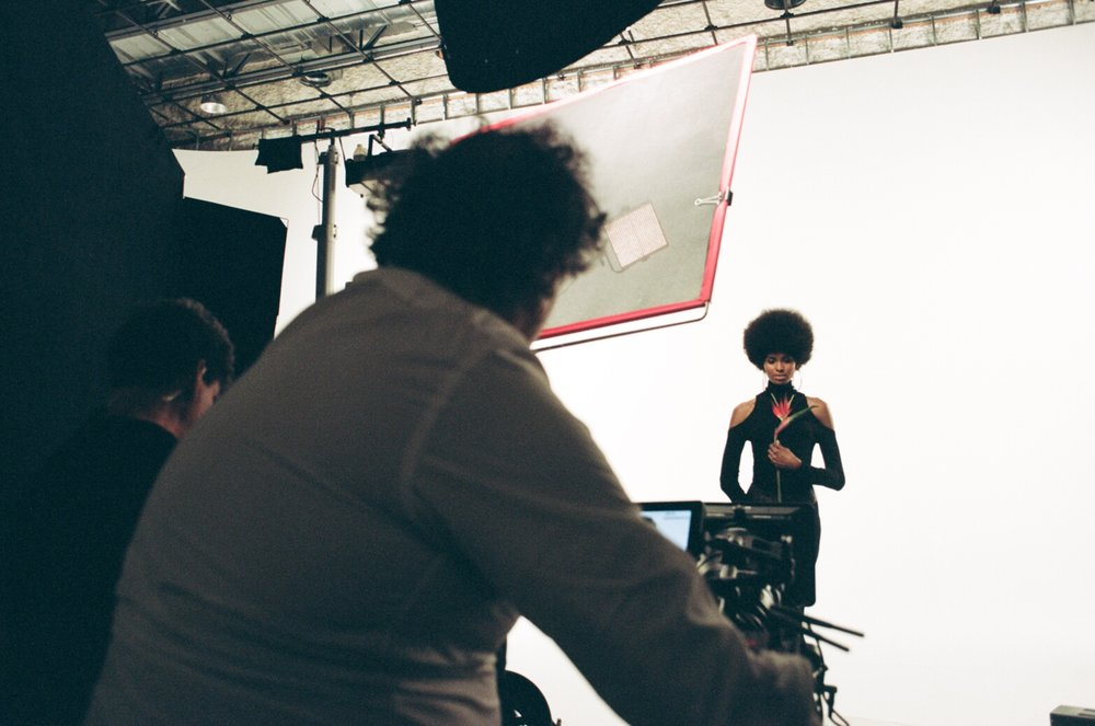 Tierra Benton on set with Pulse Films for the Pantene Gold Series Campaign