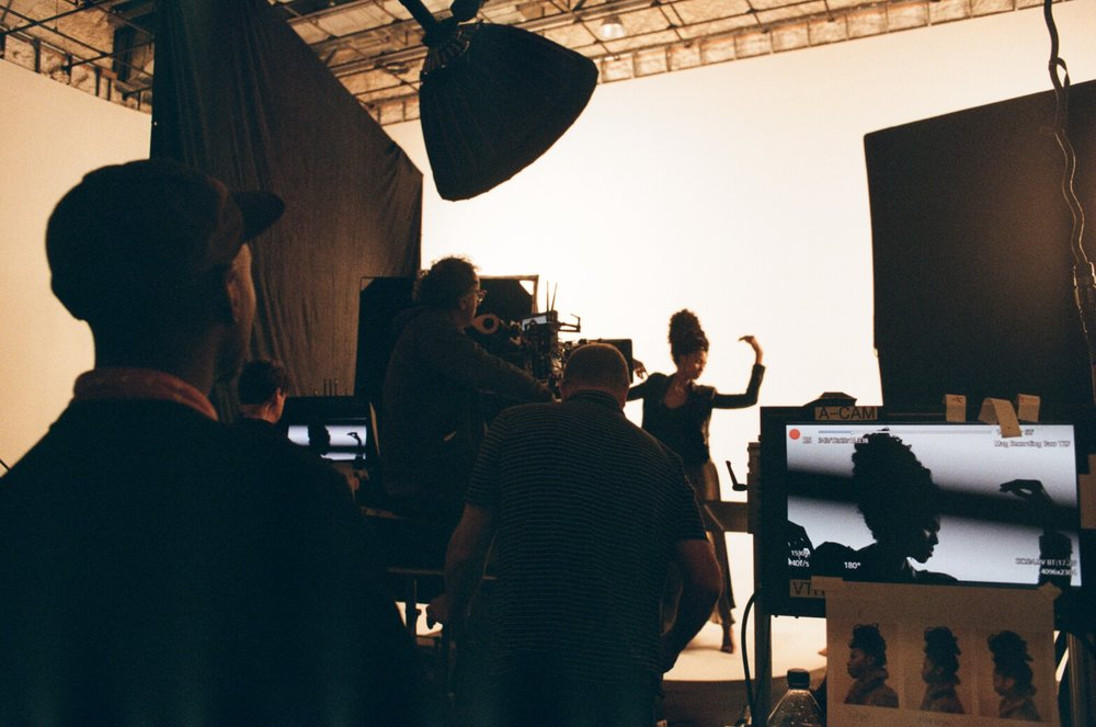 Tierra Benton on set for Pantene Gold Series Campaign - Photo by Nicole Ortero
