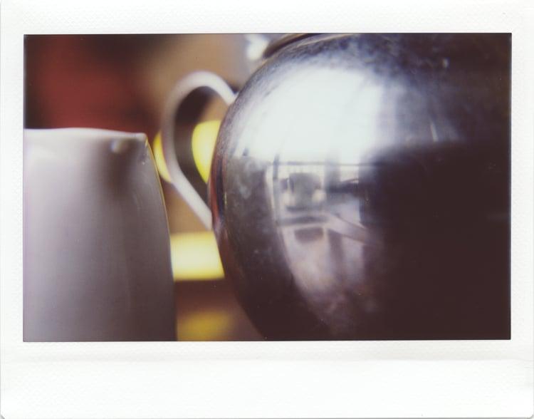 Tea things, Media Space cafe in London