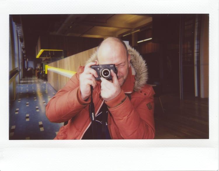 Steve Hunt , at Media Space cafe, London