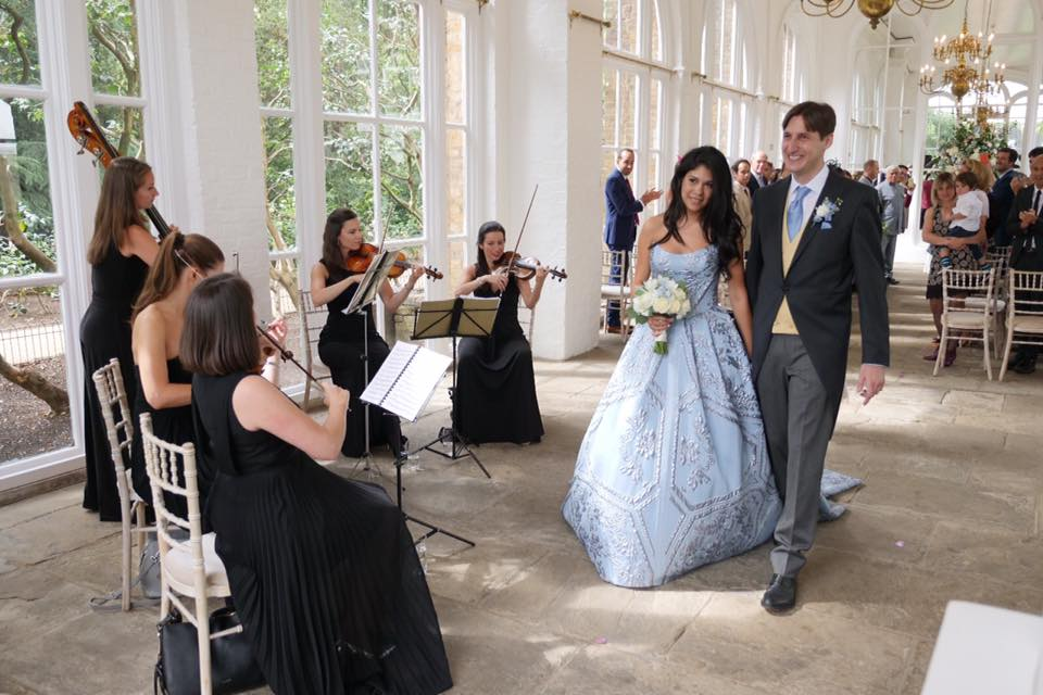Wedding with Blue Topaz Music