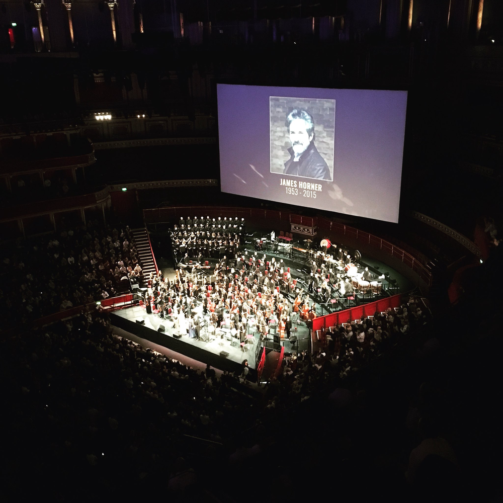 Performing music by James Horner at the Royal Albert Hall with the Cinematic Sinfonia