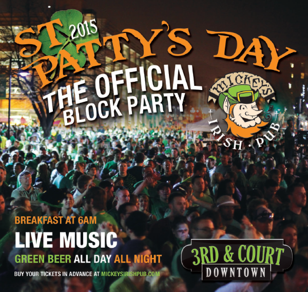 St Patrick's Day Des Moines Mickey's Irish Pub Downtown 2015