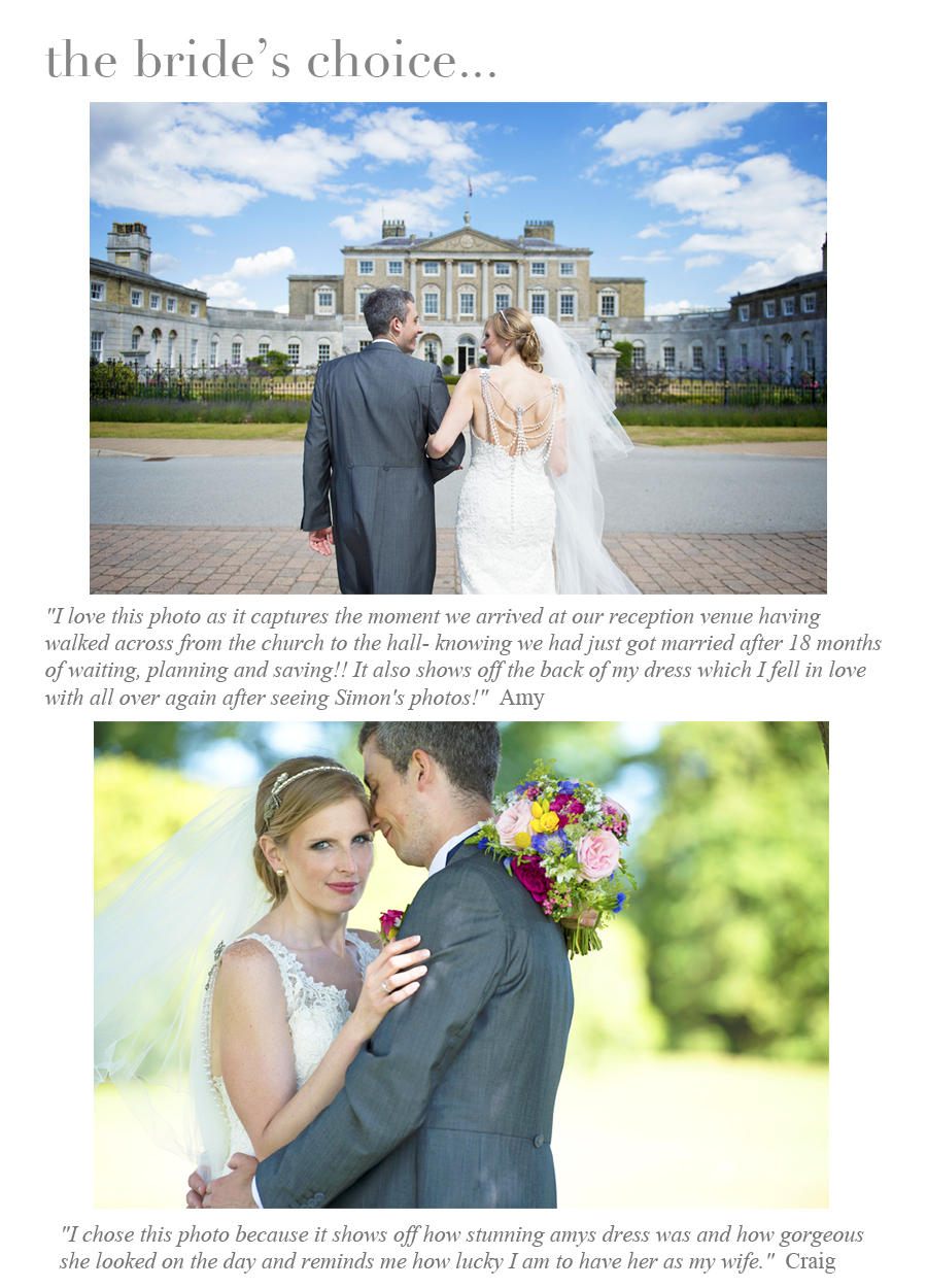 Brides choice template amy & craig