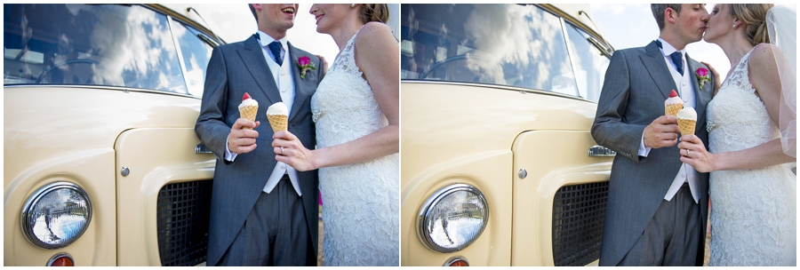 Alder tree ice cream and audrey at a Wedding at Wolverstone Hall, Suffolk