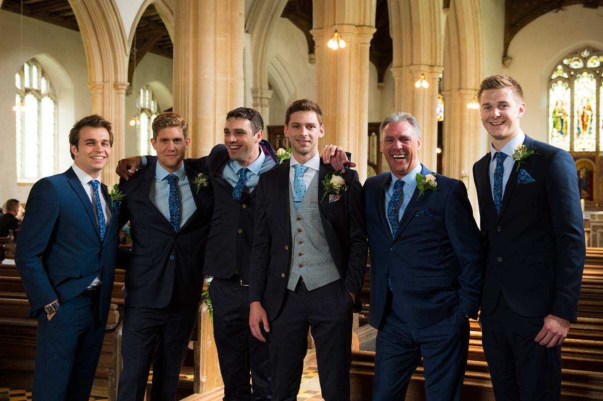 norfolk wedding photographer, blickling church groom's party