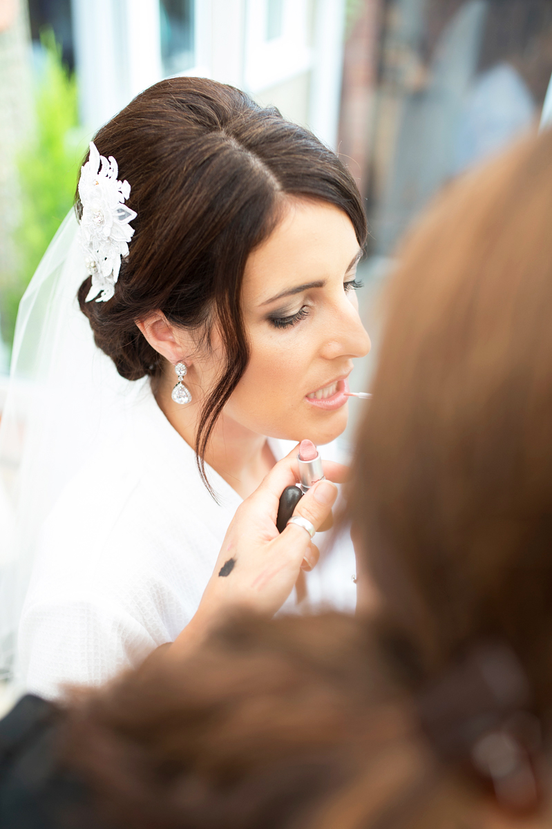 bridal preparations before a wedding in norfolk at Southwood hall