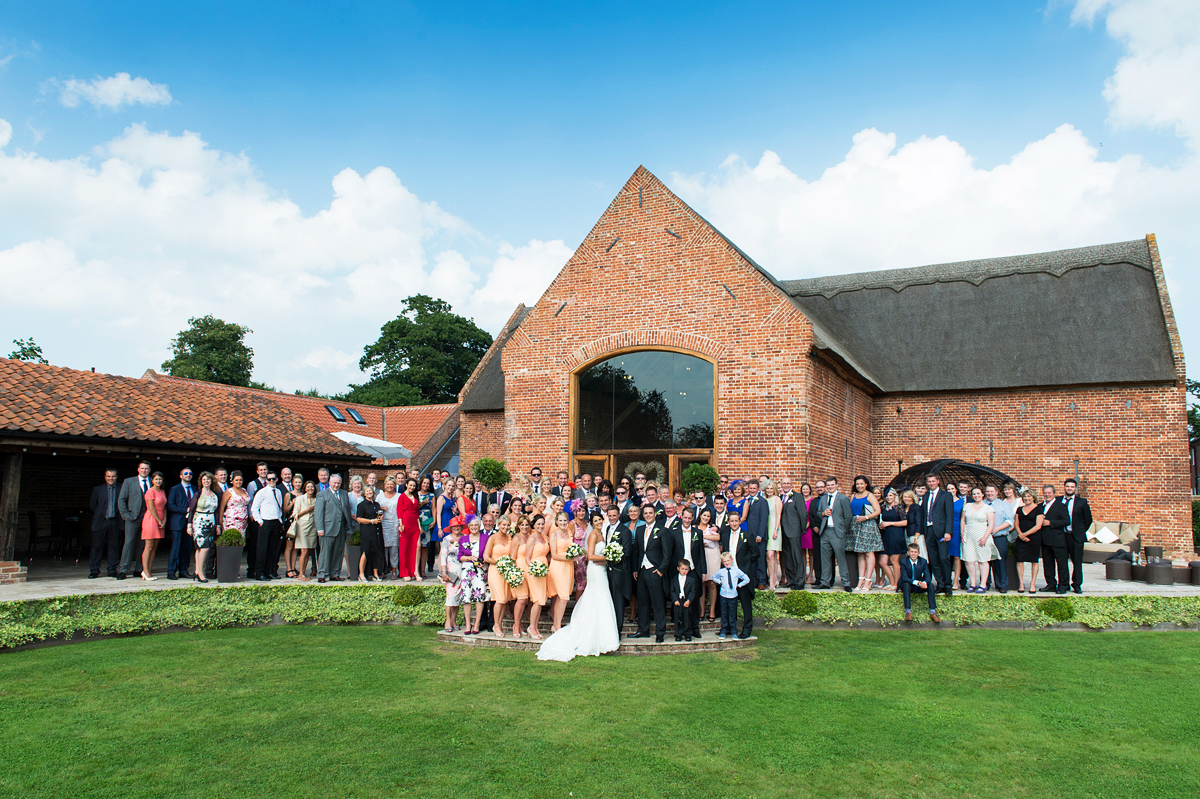 wedding guests at southwood hall