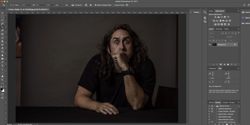 Infinite Colour Panel Test Image_Ross Noble_Before