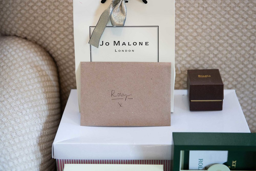 wedding gifts jo malone and rolex