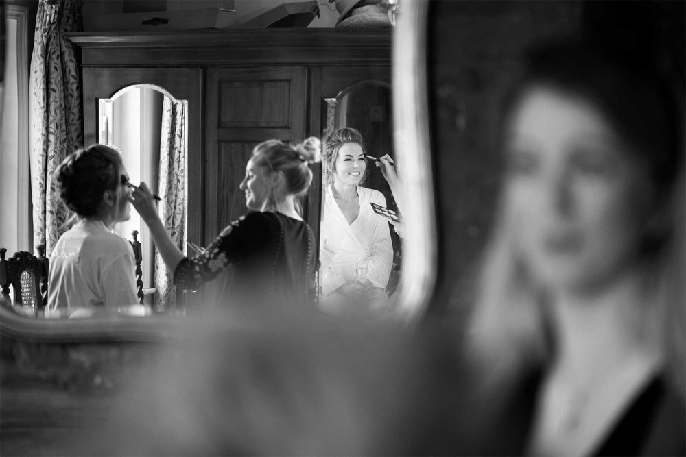 Bridal prep wedding photographer norfolk with Melissa Abel