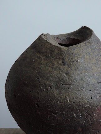 Natural Ash Glazed Vessel North Carolina STARworks Clay, Stone Inclusions Wood Fired in Penland, NC