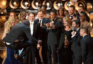 Steve McQueen celebrates a BP win (AP photo)