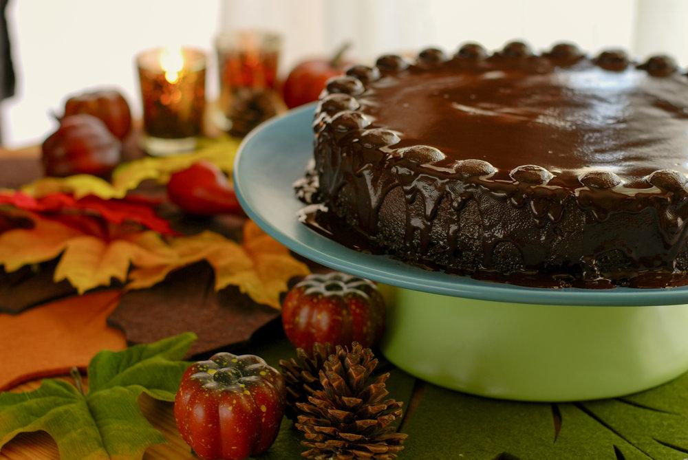 Flourless Peppermint Chocolate Cake