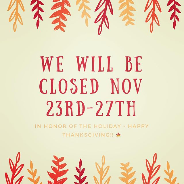 We are taking a well earned break & will reopen the store Monday 27th Nov! Hope you all have a wonderful Thanksgiving holiday 🍁 #closedforholidays #thanksgivingdesserts #cravedessert #marinadelrey #culvercitydessert #happyholidays