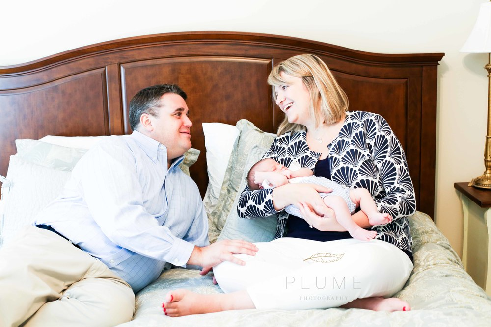Newborn session for Harrison Hite, with his parents Cathy and William, with extended family members, at their home in Falls Church, VA. Sunday, August 31, 2014