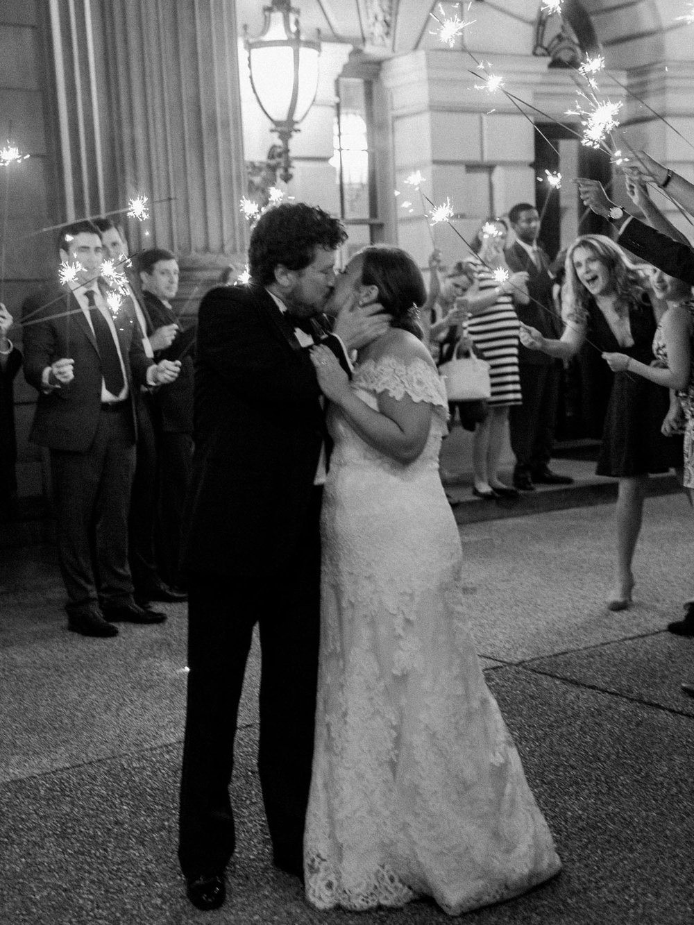 Anderson House Wedding Washington DC Sparkler Exit Plume Photography 2017