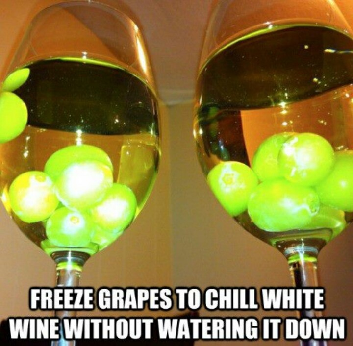 Frozen Grapes as Ice Cubes