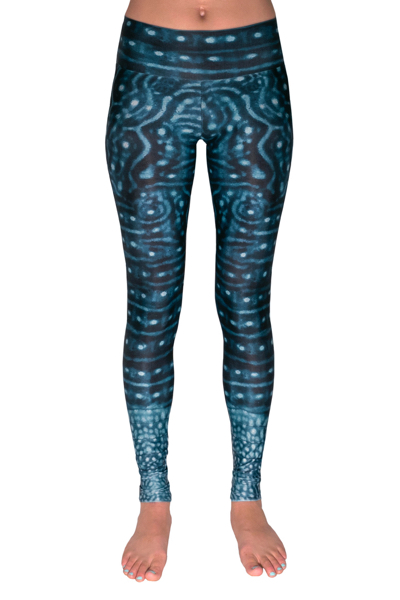 whale shark warrior leggings front