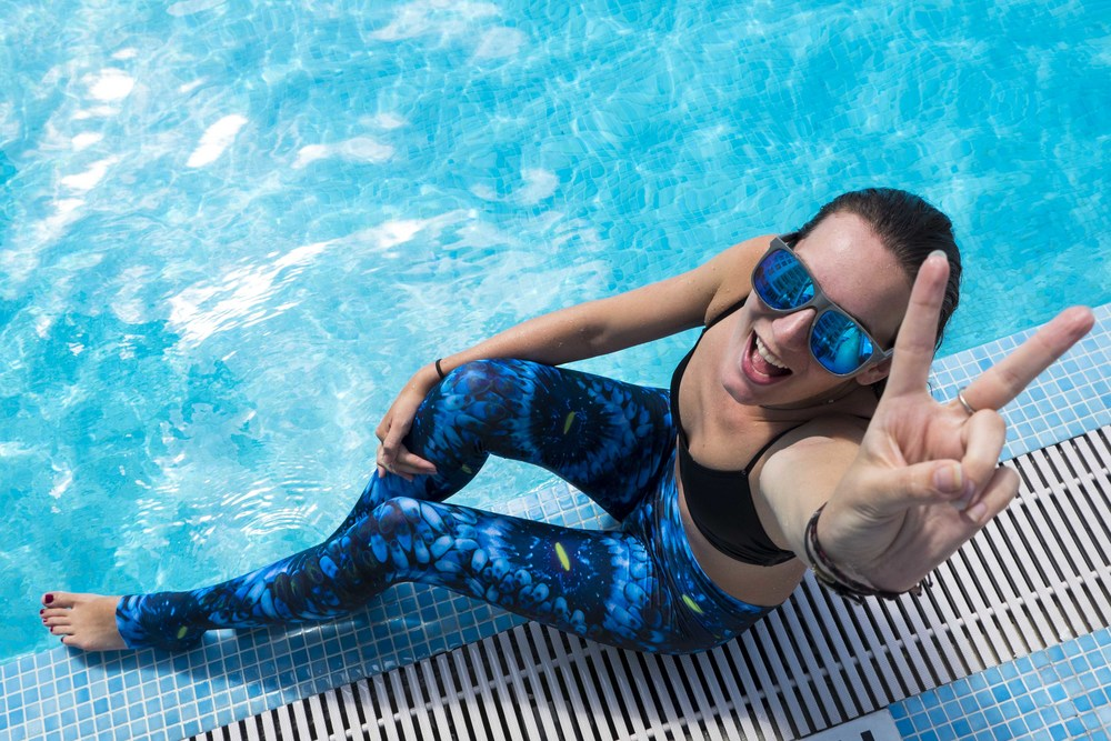 Pool Day Coral Morphologic Leggings