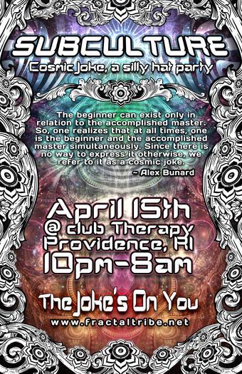 2011-4-15 Subculture A Cosmic Joke Flyer Front.jpg