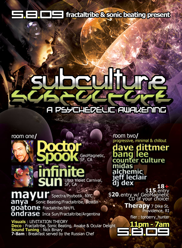 2009-5-8 Subculture A psychedelic awakening flyer.jpg
