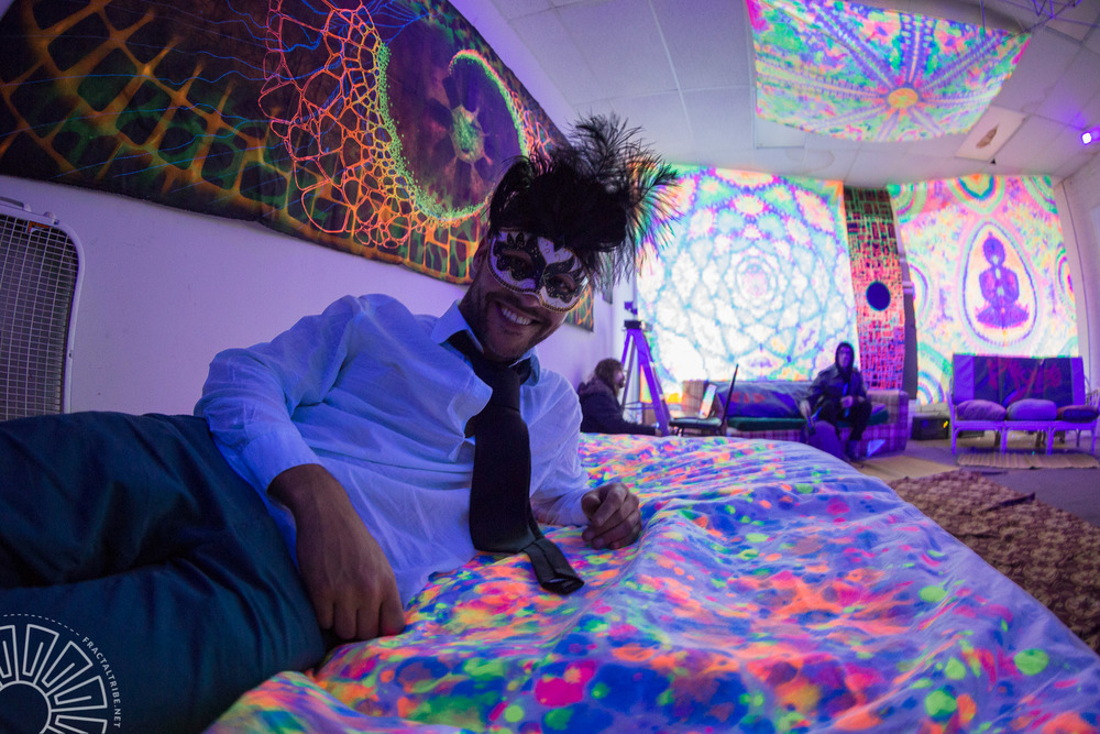 Chill Space @ Fractaltribe's Year of the Fractilian NYE party 12/31/14 in Worcester, MA, USA