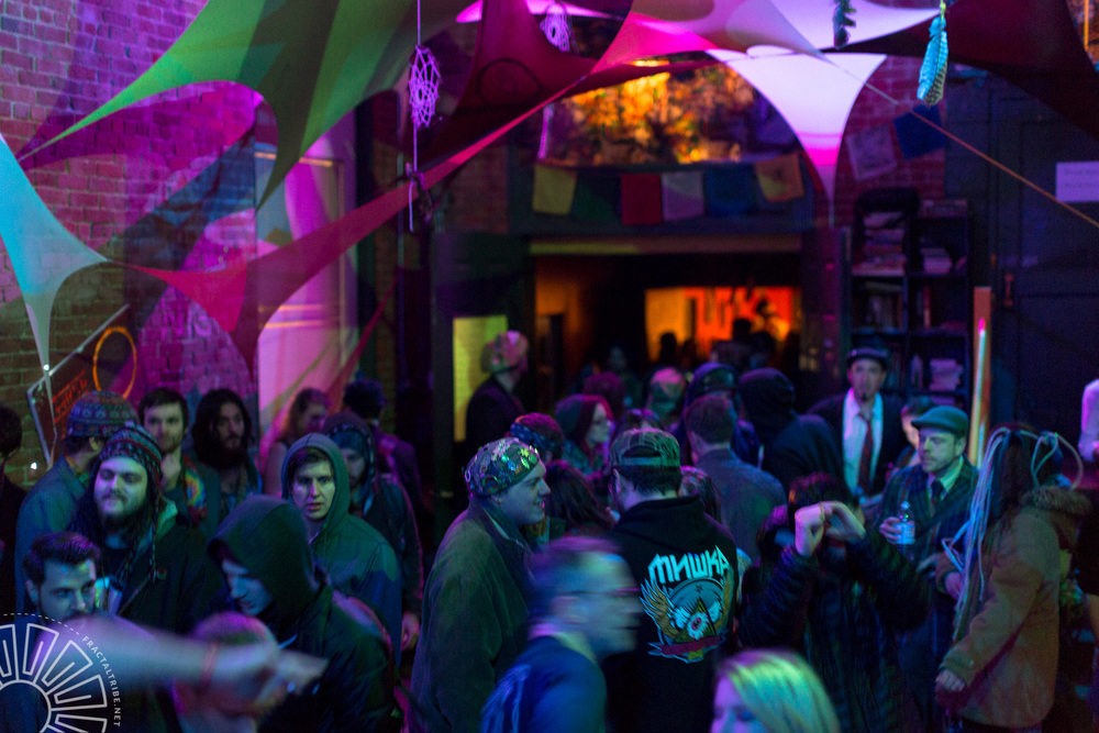 Fractaltribe's Year of the Fractilian NYE party 12/31/14 in Worcester, MA, USA