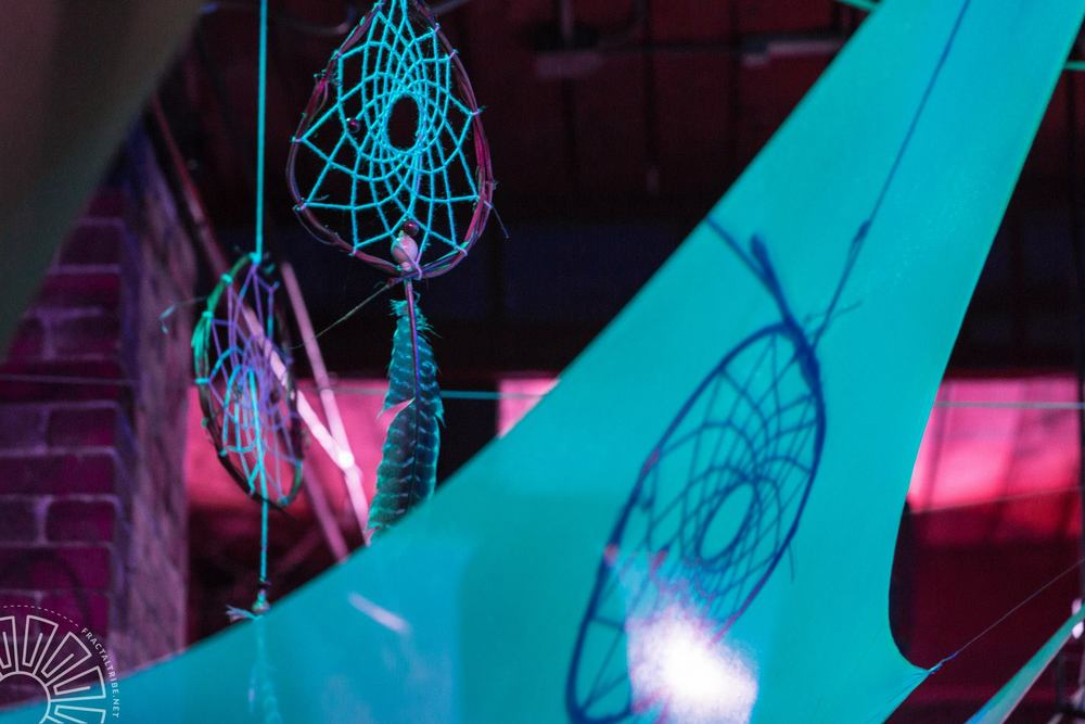 Dreamcatchers in flight @ Fractal Factory, MA. Hand-made by Artemis.