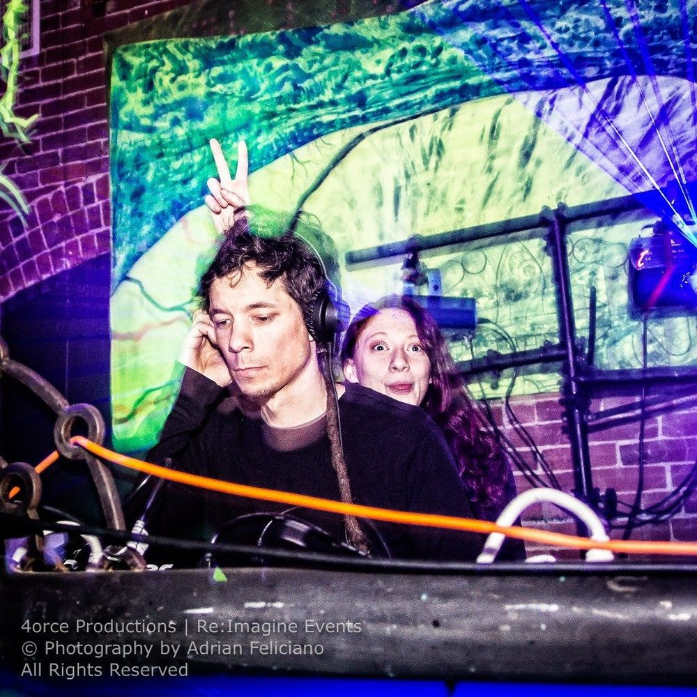 Artemis & Aaron Fractaltribe @ the Fractal Factory, Worcester, MA, USA Photo by Adrian Feliciano
