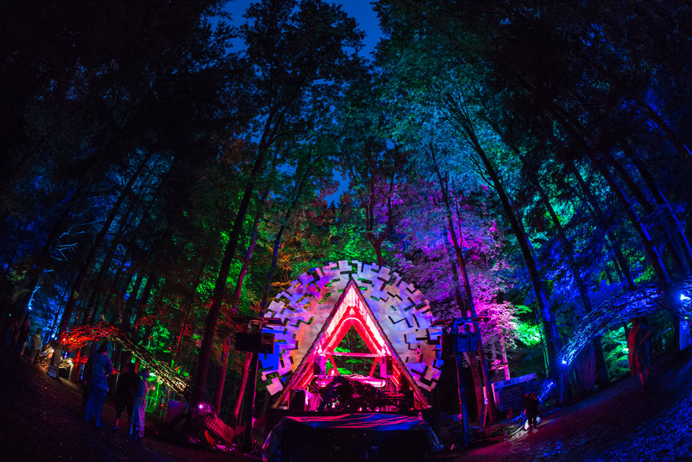 Woods Stage @ Fractalfest 2016, Stephentown, NY