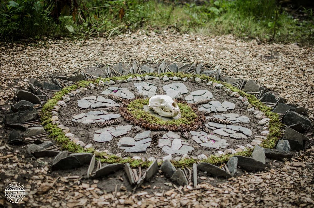 Earth Mandala by Sarah Bista @ Fractalfest 2017 Photo by Anthony Gomes