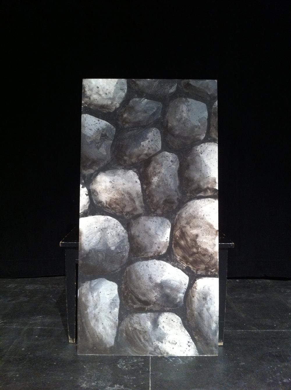 Stone paint sample