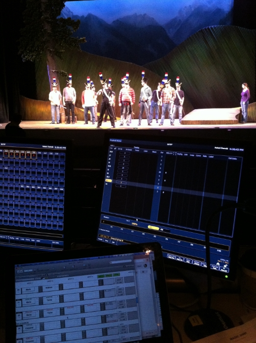 Spacing rehearsal and light over