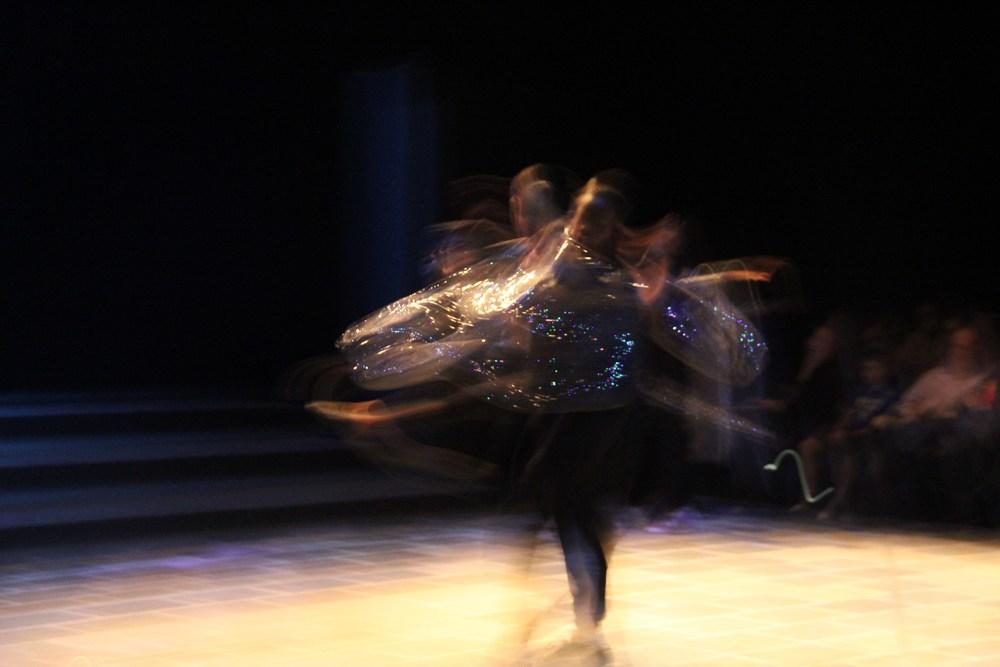 Tornado dancer in motion