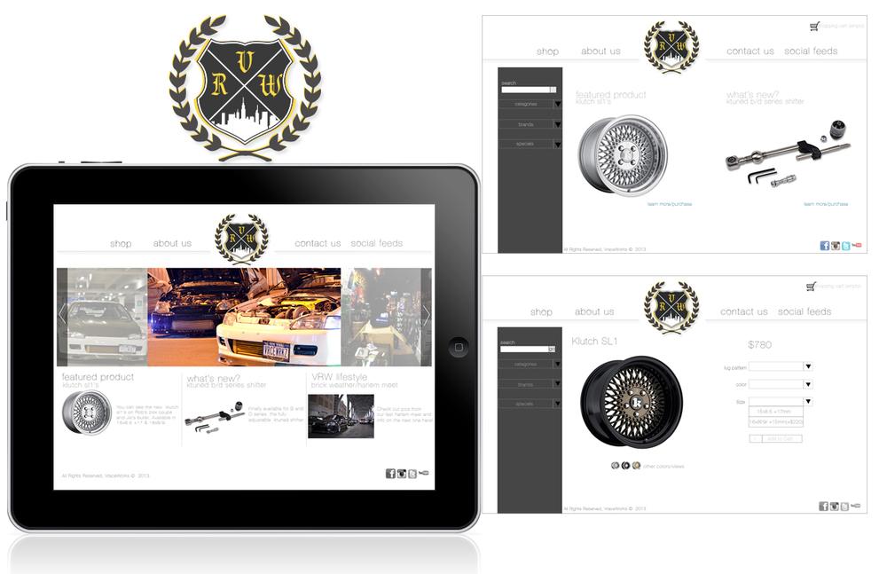 Vraceworks logo/website re-design
