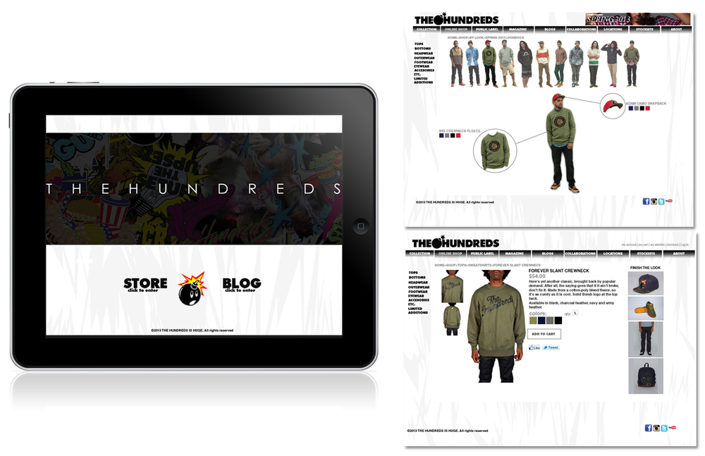 The hundreds interactive web-app store.