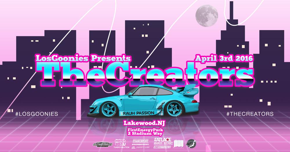 Flyer design for automotive art showcase