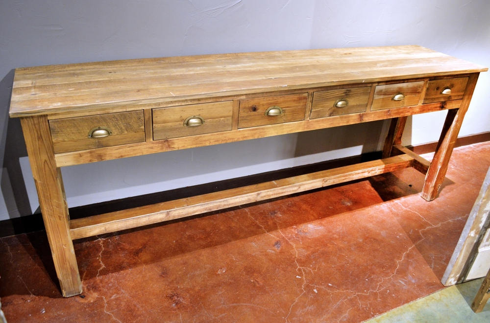 Attrayant Six Drawer Recycled Wood Sofa Tables/Buffets