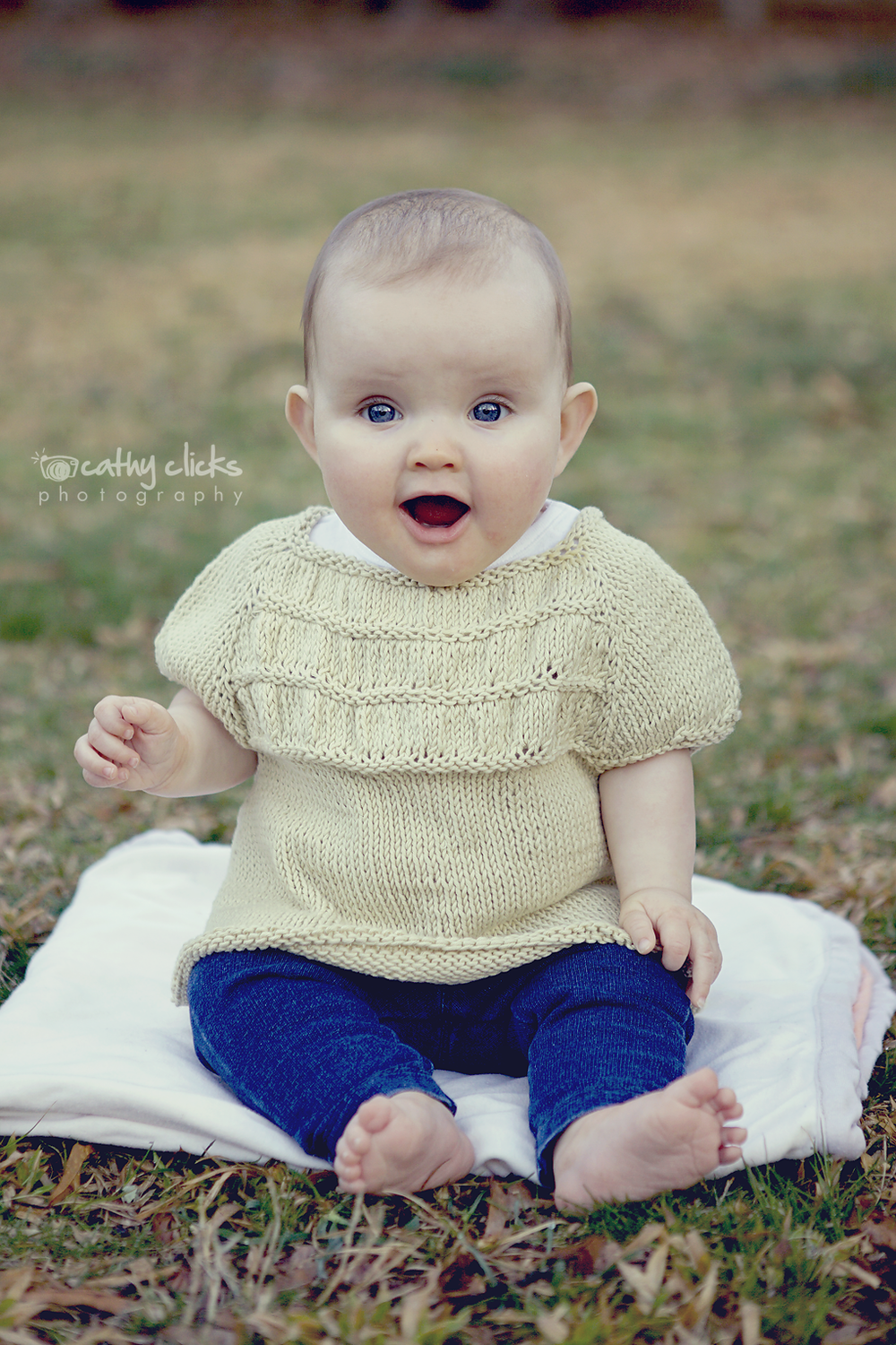 Organic Cotton Ruched Jumper for baby & toddlers